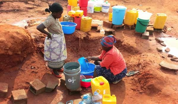 Fetching water in Angola